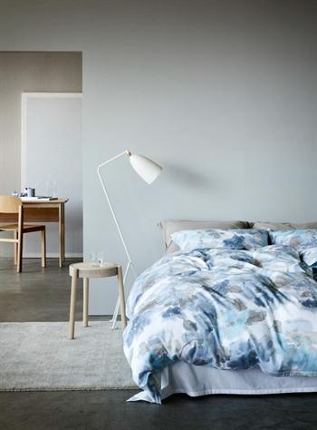Påslakanset - bomullssatin - Høie of scandinavia - Mille blå - 150x210 cm